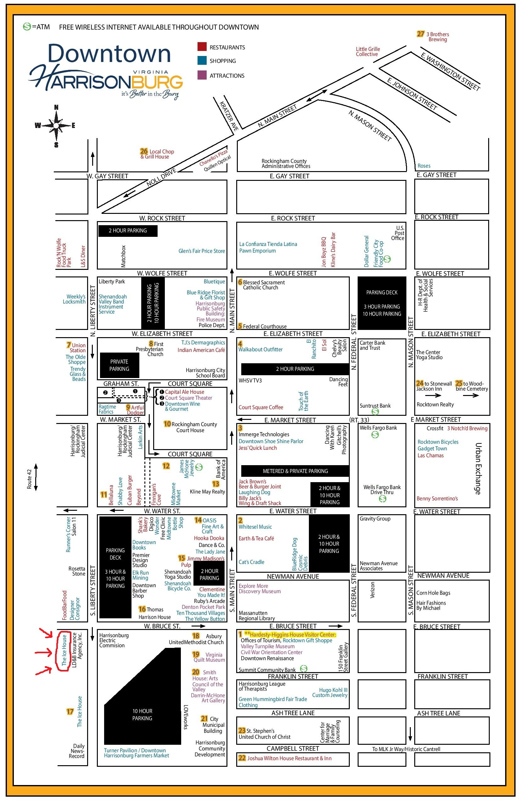 downtown map (ice house)