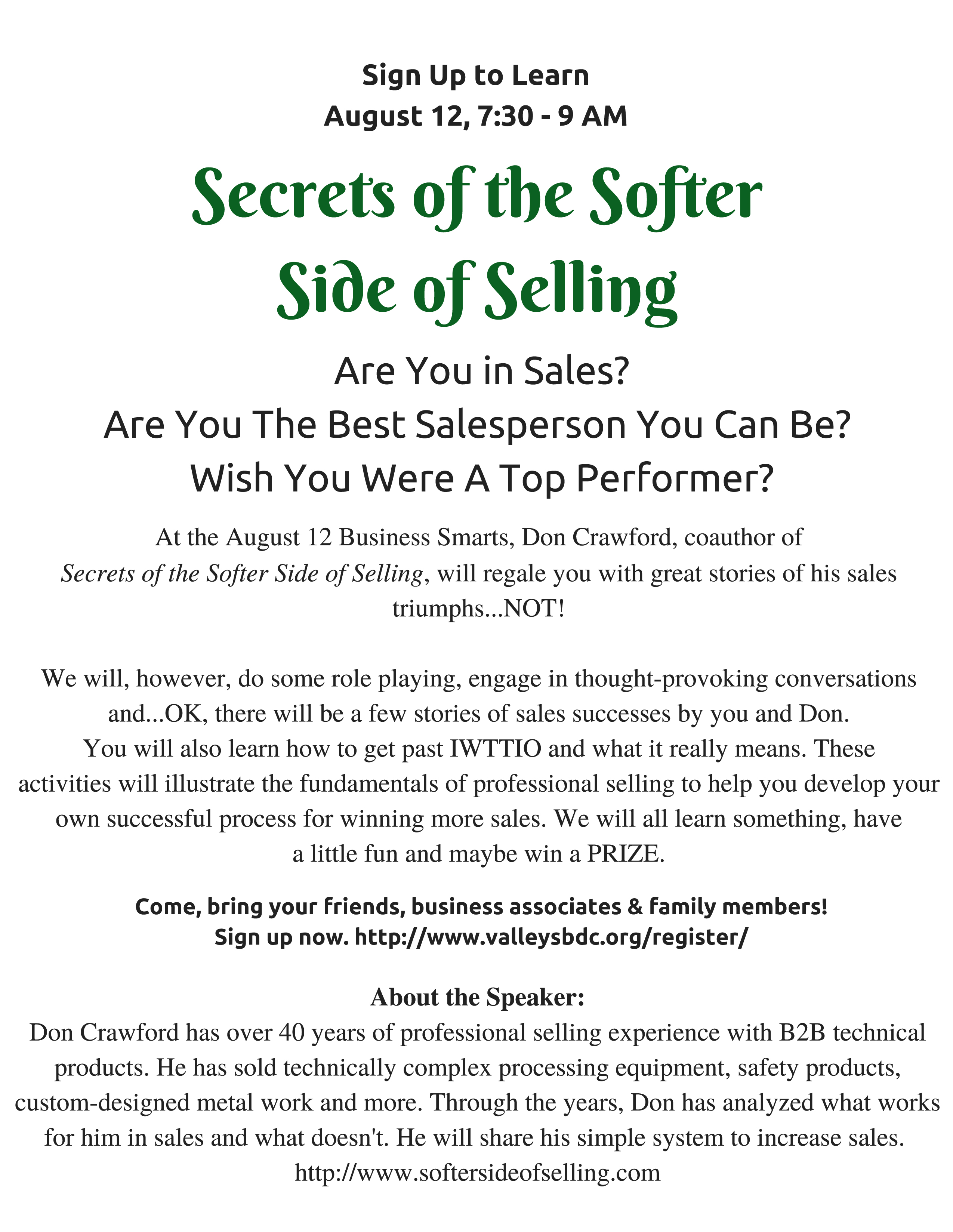 Secrets of the SofterSide of Selling