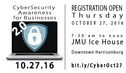 CyberSecurity Awareness for Businesses 2.0 @ The JMU Ice House, room 117 | Harrisonburg | Virginia | United States