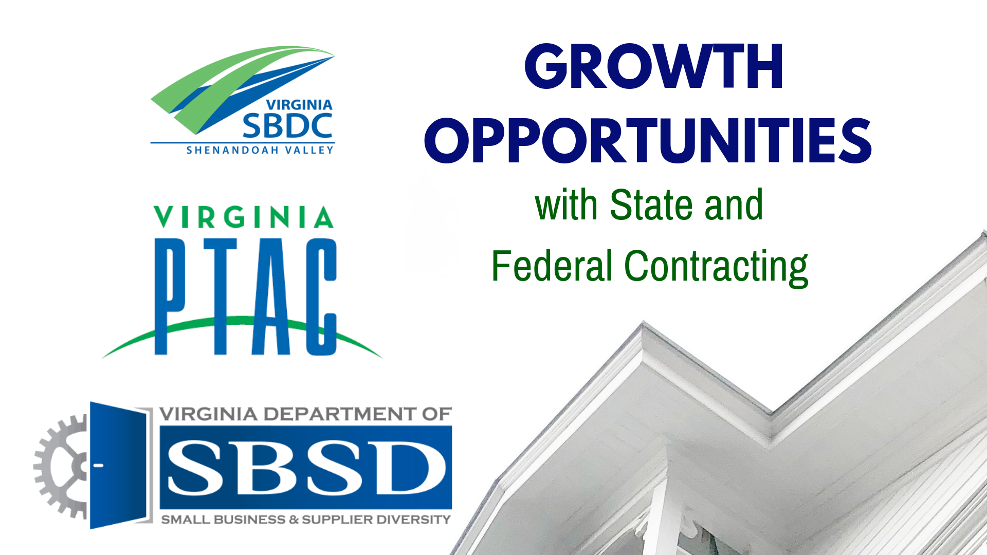 Growth Opportunities with State and Federal Contracting @ JMU Ice House in Harrisonburg