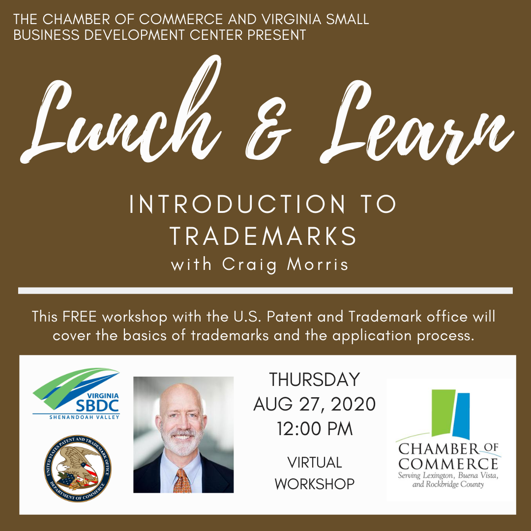 Lunch & Learn: Introduction to Trademarks @ Virtual Webinar | Harrisonburg | Virginia | United States