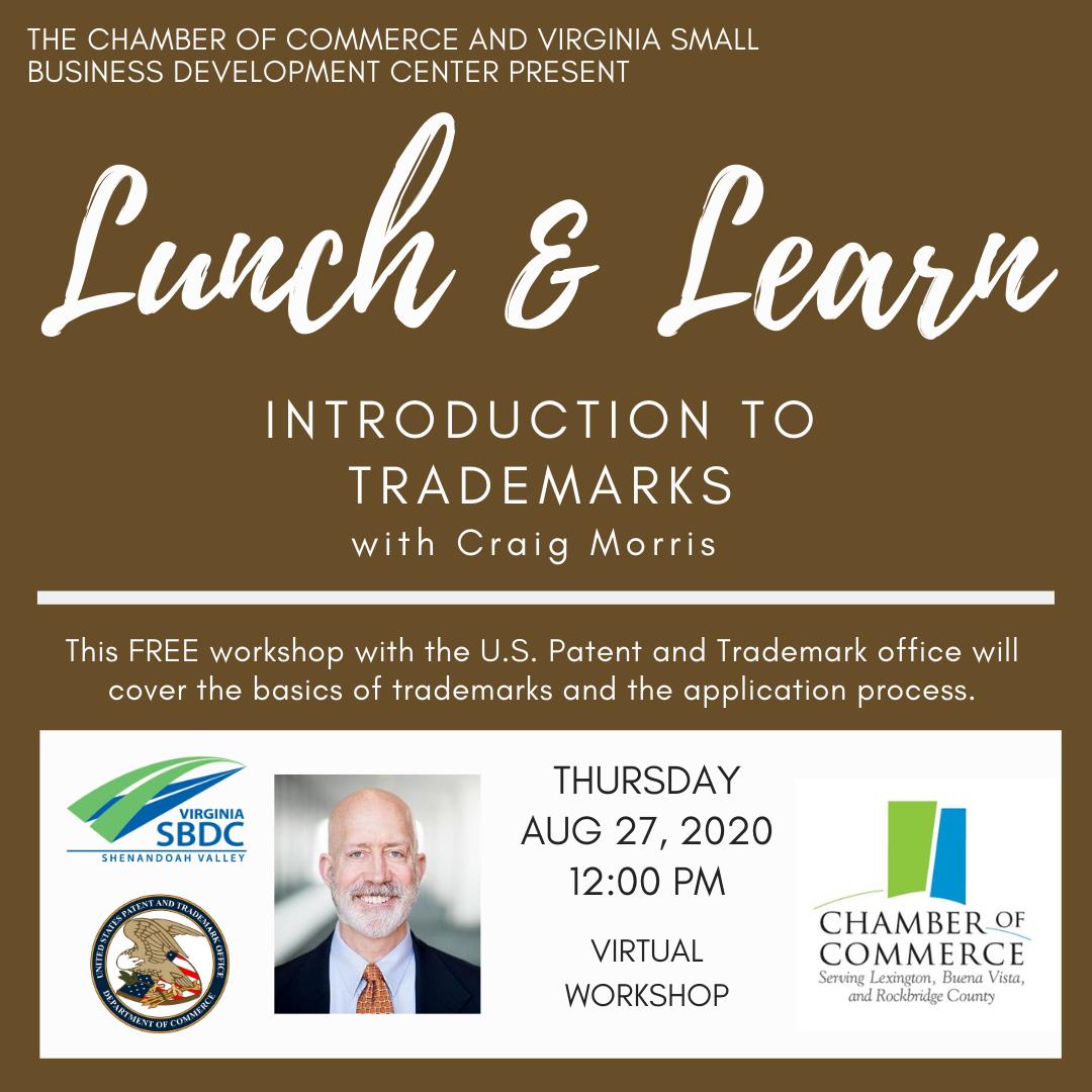 Lunch & Learn: Introduction to Trademarks @ Virtual Webinar | Harrisonburg | Virginia | United States