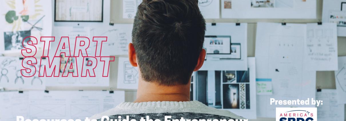 entrepreneur looking at bulletin board